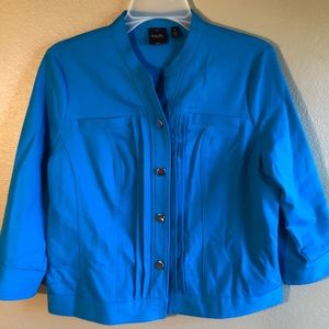 Rafaela Stylish Button Front Blue Jacket Blazer 8
